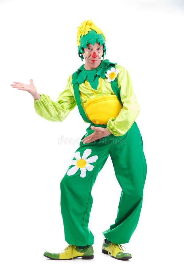Glad clown arkivfoton