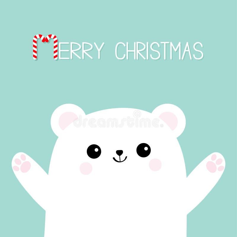 glad godisrottingjul Polar vit liten liten björngröngöling Nå för en kram Den gulliga tecknade filmen behandla som ett barn tecke vektor illustrationer