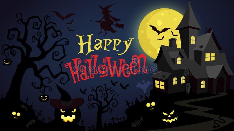 Glad Halloween-skrivbordsunderlägg stock illustrationer