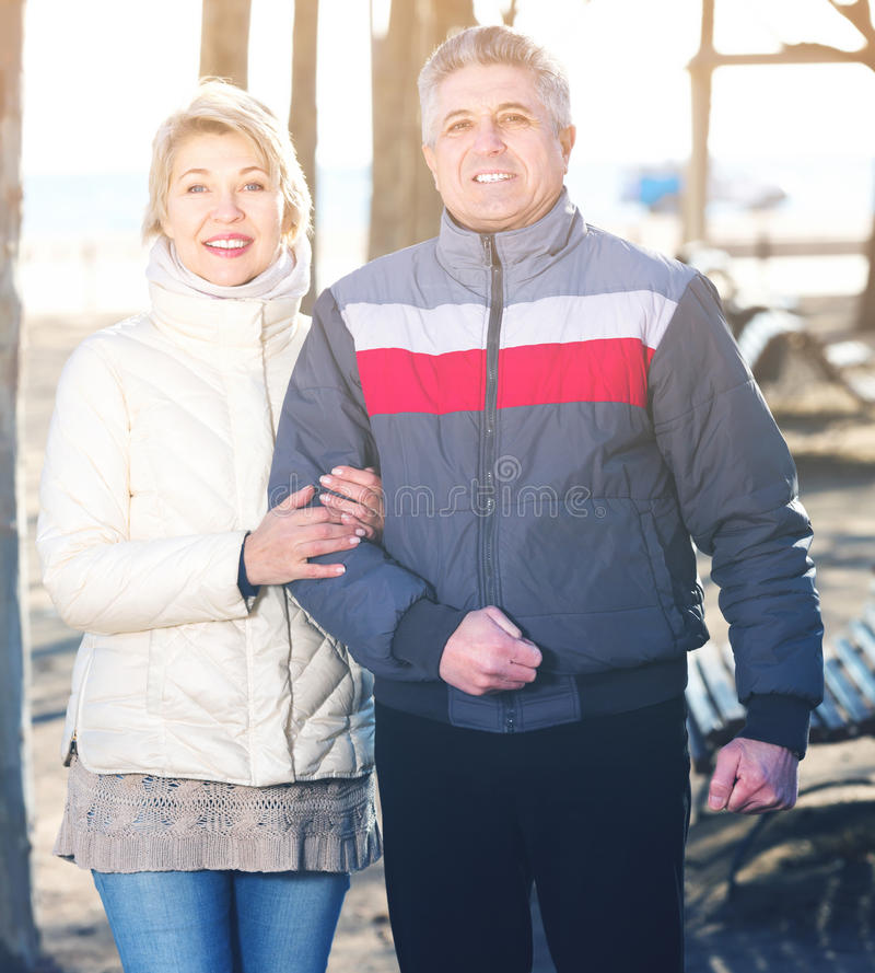Glad husband and wife spend day together royalty free stock photo