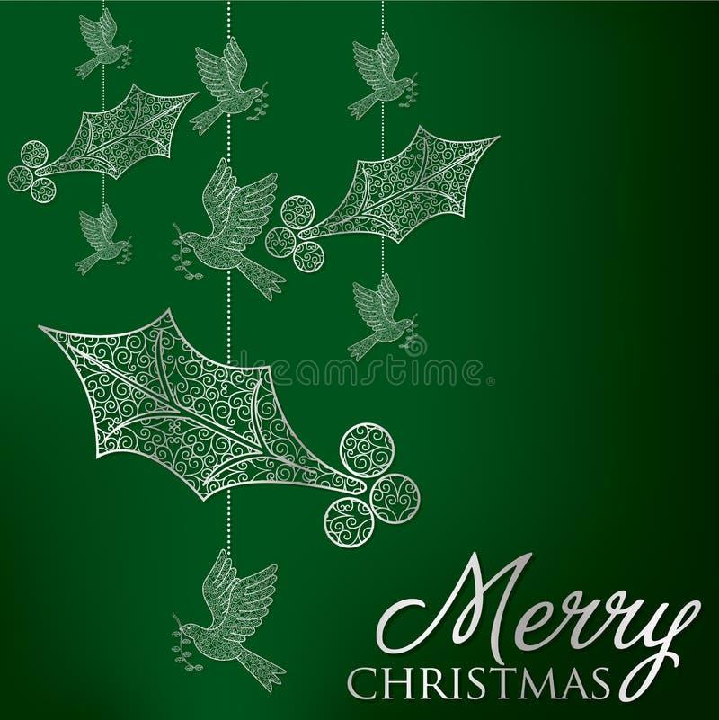 Glad jul! vektor illustrationer