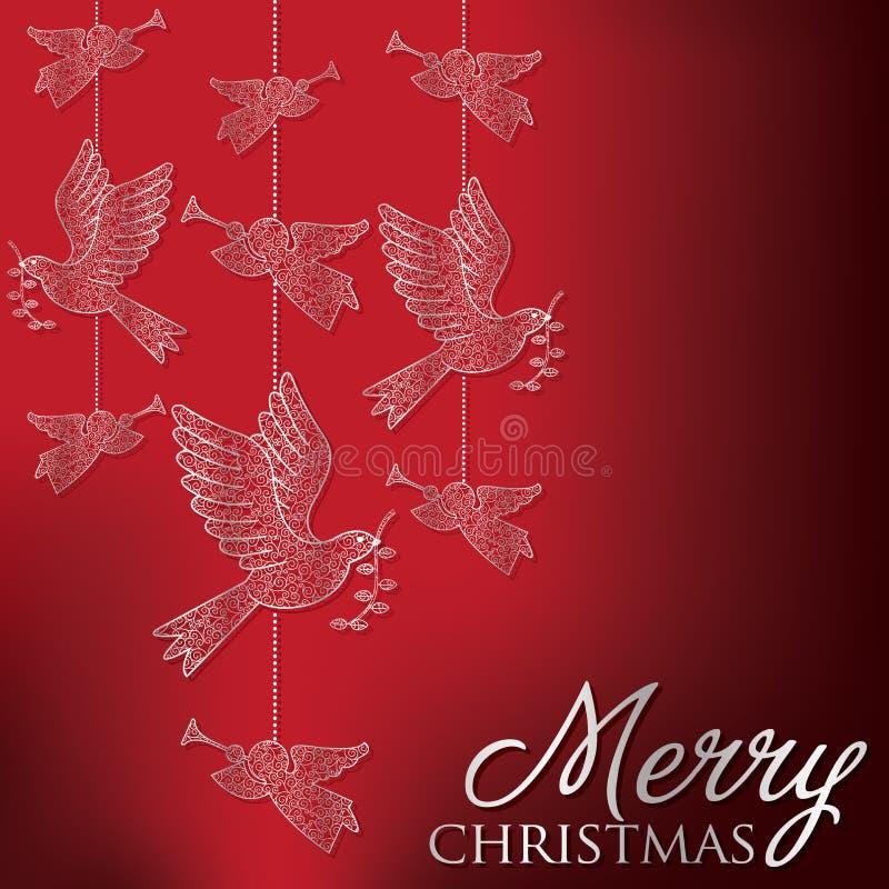 Glad jul! stock illustrationer