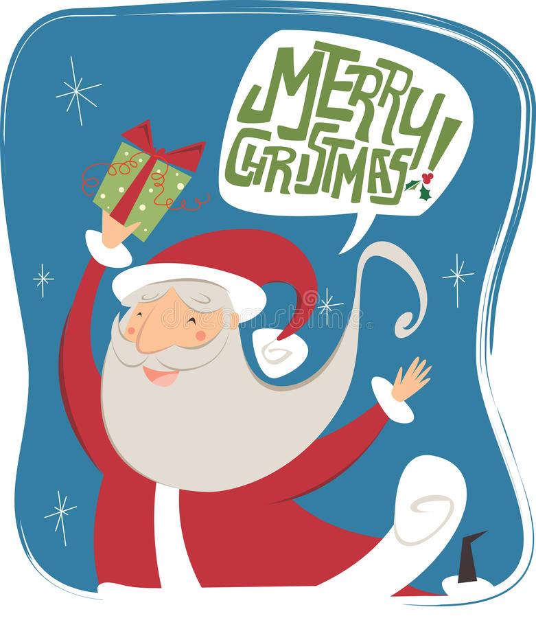 glad jul stock illustrationer