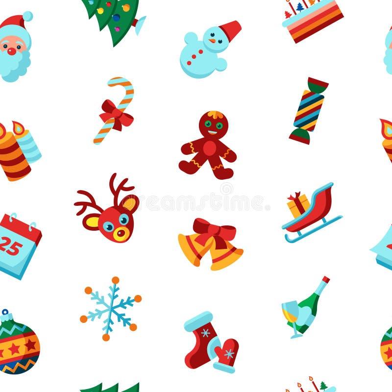 Glad jul för Digital vektor och vinterferier vektor illustrationer