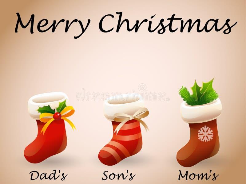 Glad jul för julkort royaltyfria foton