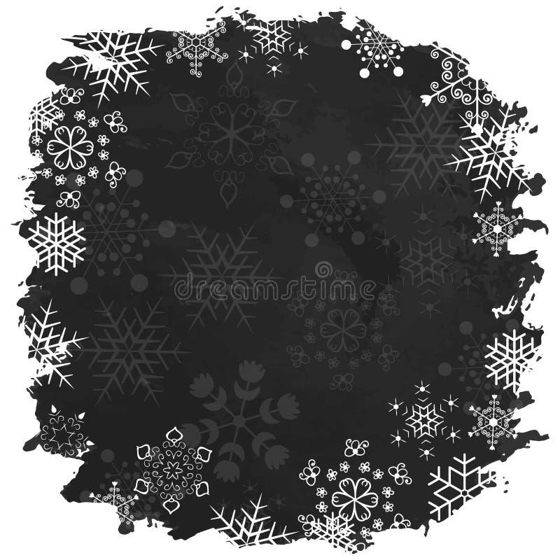 Glad jul för tappning och lyckligt nytt år vektor illustrationer