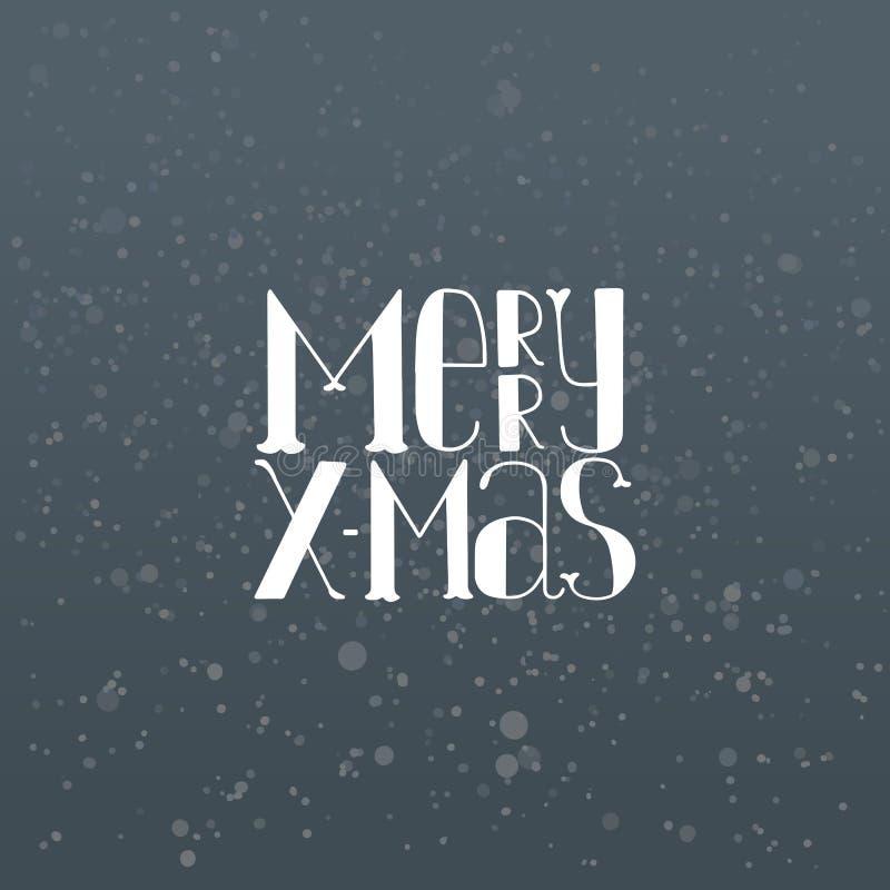 Glad jul för vektor i himmel stock illustrationer
