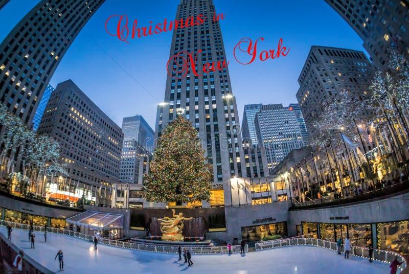 Glad jul från New York royaltyfria bilder