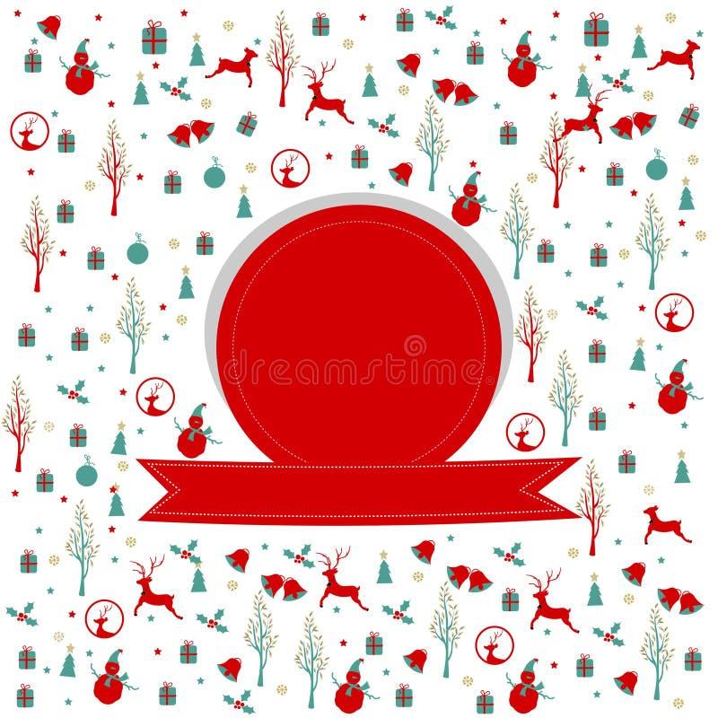 Glad jul, julramdesign royaltyfri foto