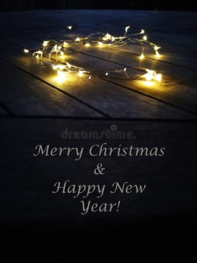 Glad jul & lyckligt nytt år royaltyfria foton