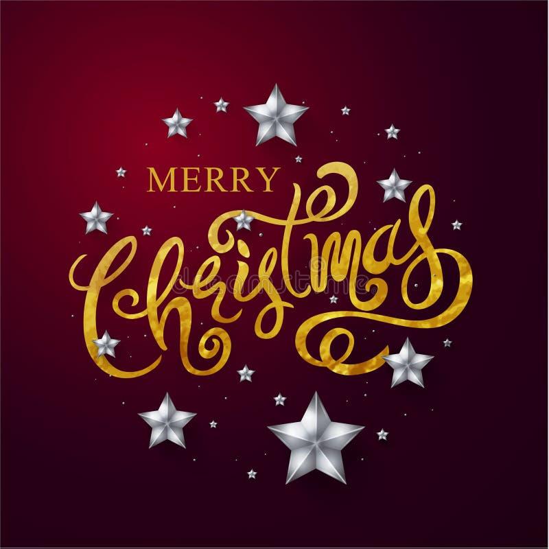 Glad jul & lyckligt nytt år 2018 som är calligraphic, typ stock illustrationer