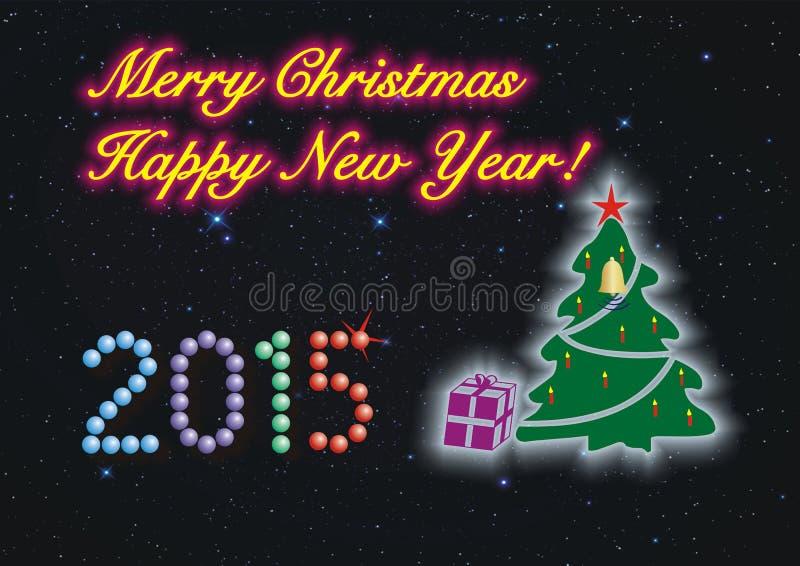 Glad jul och lyckligt nytt år! royaltyfria foton