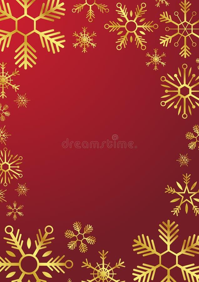 Glad jul och lyckligt nytt år Glod snöflingor också vektor för coreldrawillustration stock illustrationer