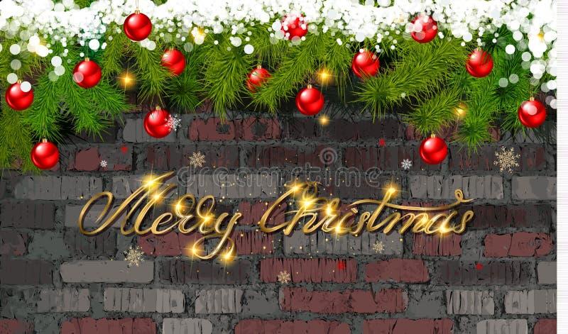Glad jul och lyckligt nytt ?r 2020 stock illustrationer