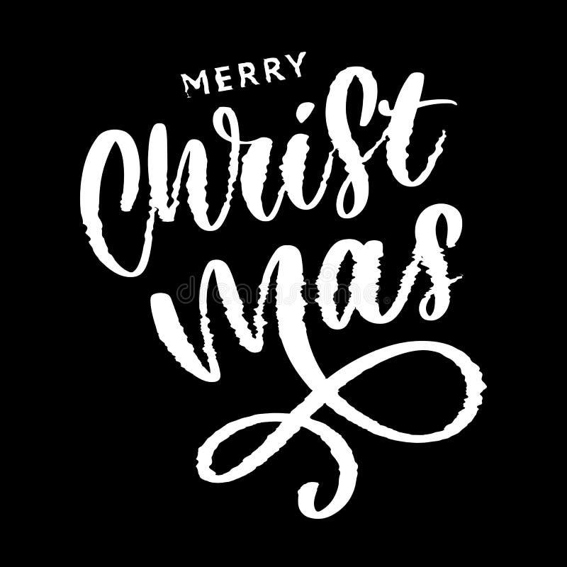 glad jul och lyckligt nytt ?r 2019, id?rikt h?lsa kort eller etikett med tekniskt feltema p? svart bakgrundsvektordesign vektor illustrationer