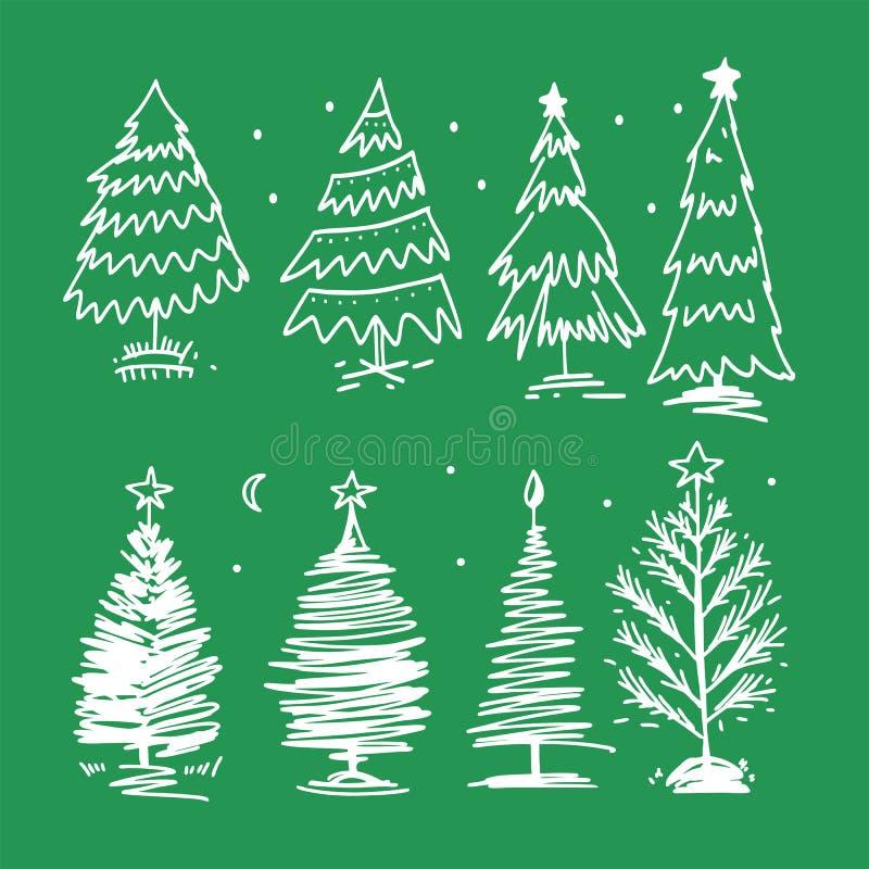 Glad jul räcker utdragen vektorbokstäver Kalligrafitext för hälsningkort på bakgrund royaltyfri illustrationer