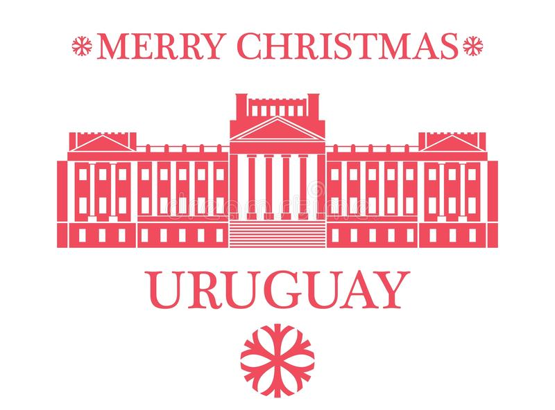 Glad jul Uruguay stock illustrationer