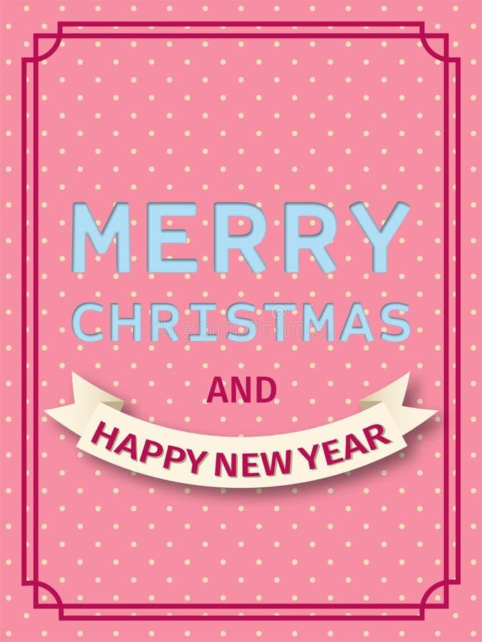 Glad julkort också vektor för coreldrawillustration stock illustrationer