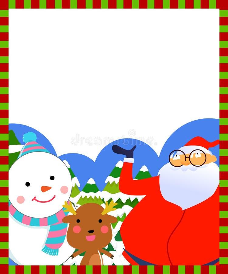 Glad julram royaltyfri illustrationer