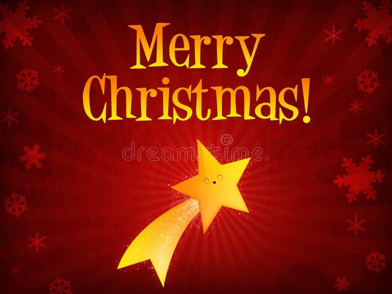 glad skyttestjärna för jul vektor illustrationer