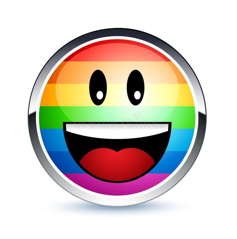 glad smiley royaltyfri illustrationer