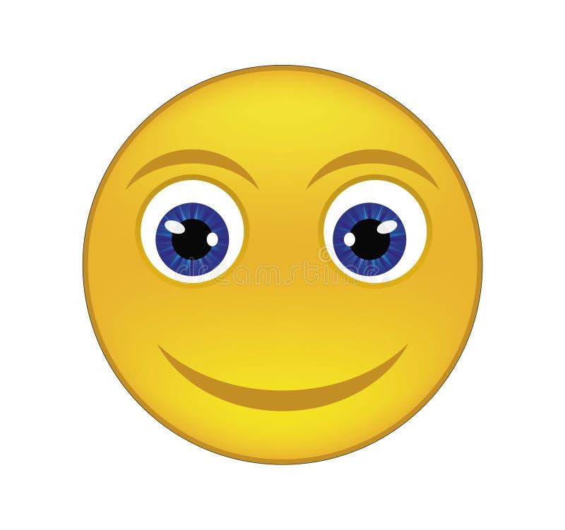 Glad smiley arkivbilder