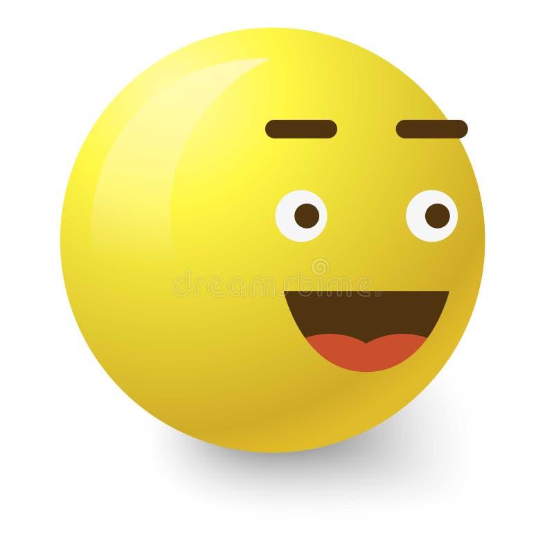 Glad smiley icon, cartoon style. Glad smiley icon. Cartoon illustration of glad smiley vector icon for web vector illustration