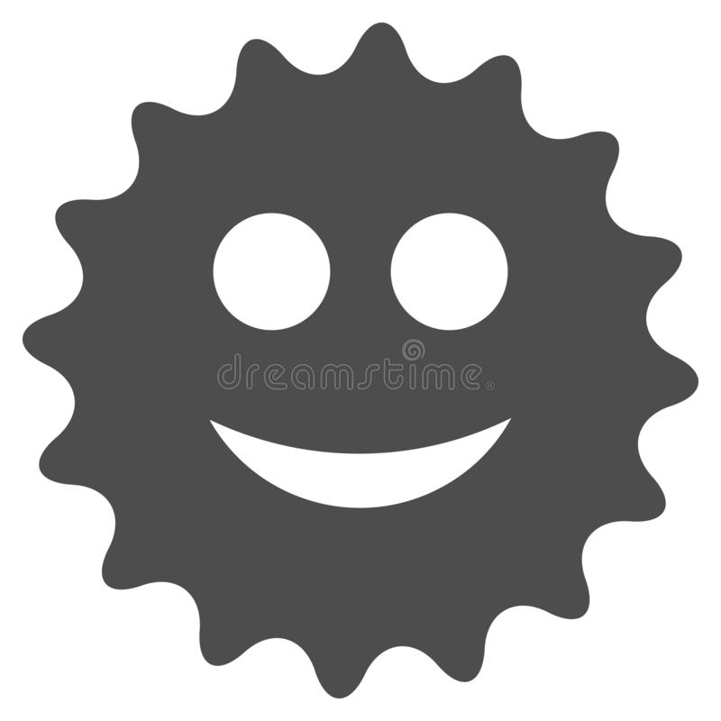 Glad Sticker Flat Icon. Glad sticker raster pictograph. Style is flat graphic gray symbol stock illustration