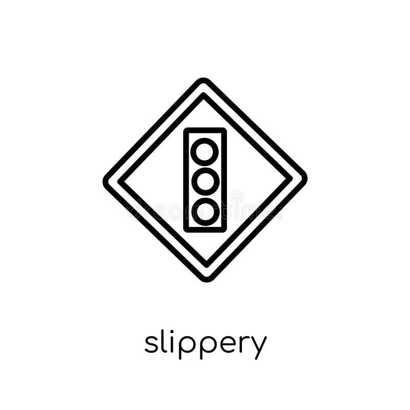 Glad tekenpictogram In modern vlak lineair vector Glad Si stock illustratie