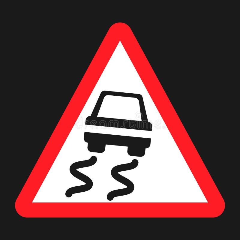 Glad verkeersteken vlak pictogram vector illustratie