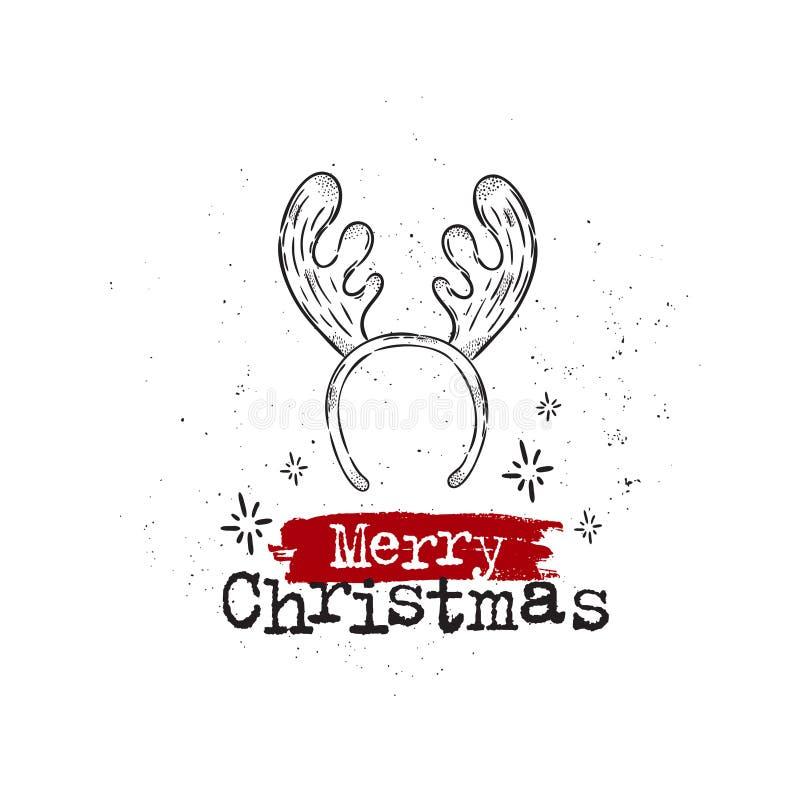 glad vykort för jul stock illustrationer