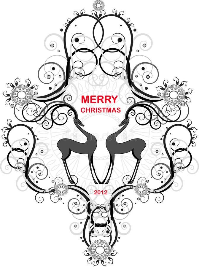 glad vykorttappning för jul vektor illustrationer