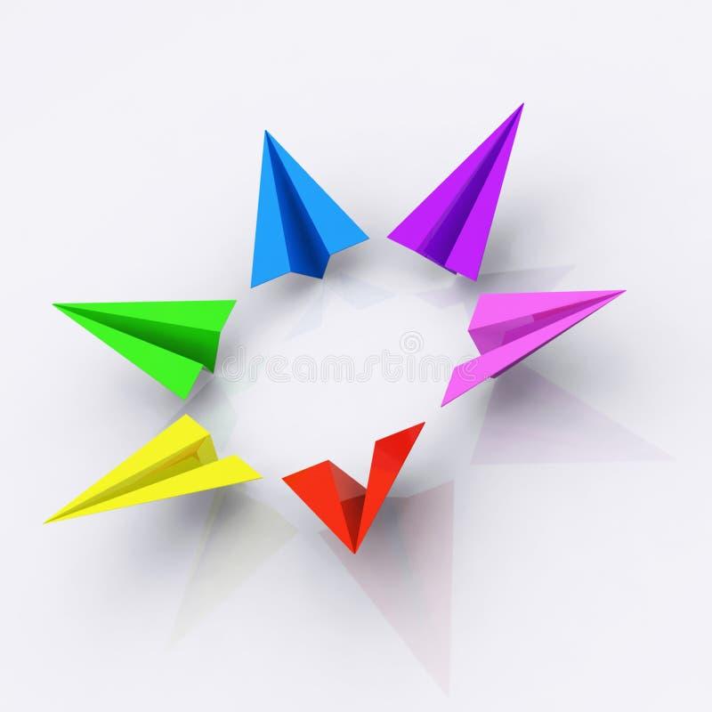 glada flygplan vektor illustrationer