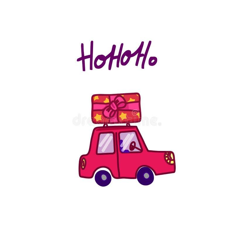 glada julgåvor vektor illustrationer