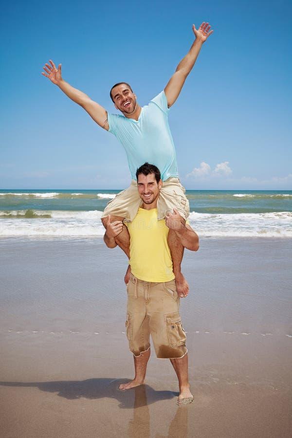 glada lyckliga män royaltyfria bilder
