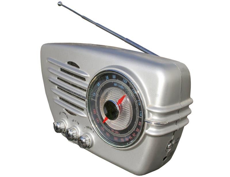 Gladde retro radio royalty-vrije stock afbeeldingen
