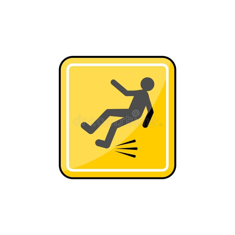 Gladde vloer, Nat Vloerteken of pictogram vector illustratie