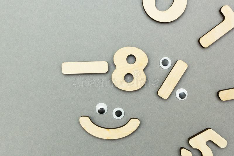 Glade barns matematik från trädiagram arkivfoton