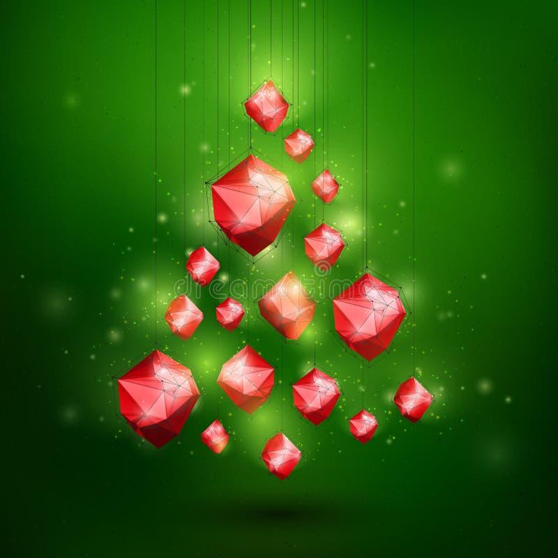 Glade Christmass och det lyckliga nya året gör sammandrag vektorillustrationen royaltyfri illustrationer