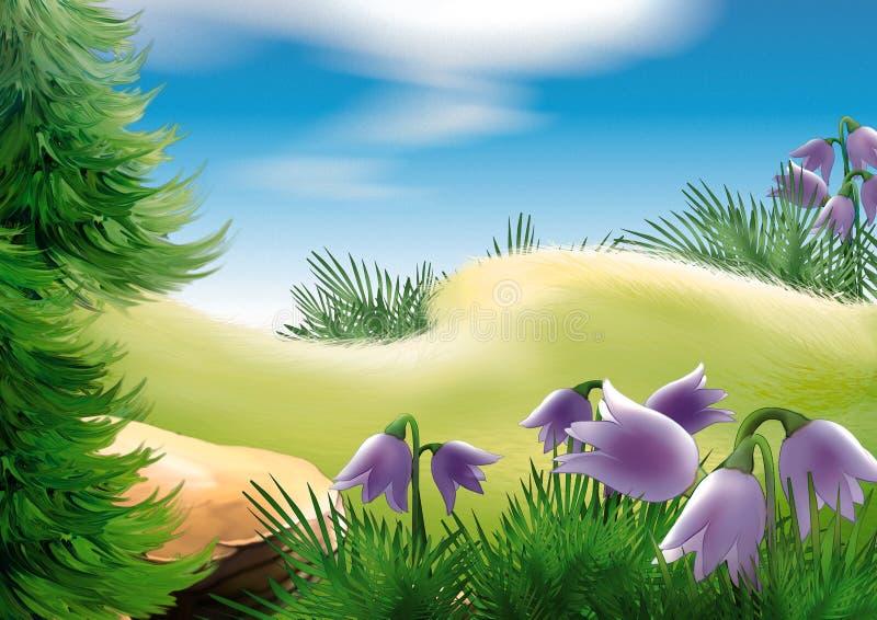 Glade da floresta ilustração royalty free