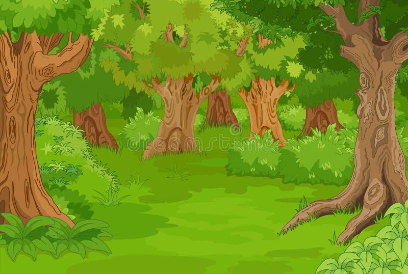 Glade da floresta ilustração stock
