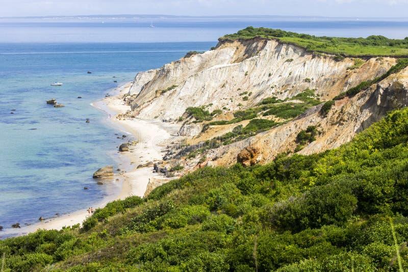 Glade Head klippor, vingård för Martha ` s, Massachusetts royaltyfri bild