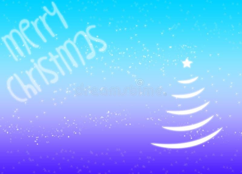 Glade julgranstjärnasnöflingor slösar magisk festlig bakgrund royaltyfri illustrationer