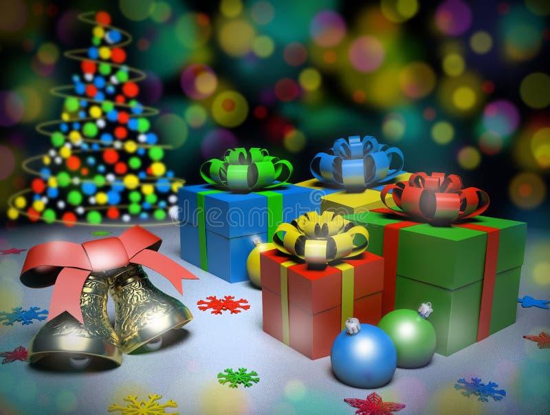 Glade julklappar royaltyfri fotografi