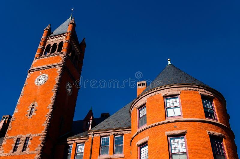 Gladfelter Hall, på universitetsområdet av den Gettysburg högskolan, PA fotografering för bildbyråer