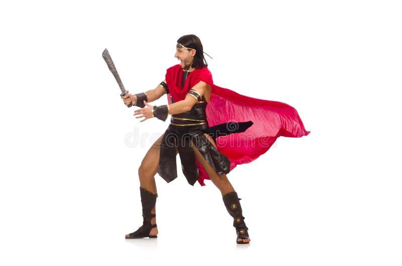 Gladiador com espada fotos de stock