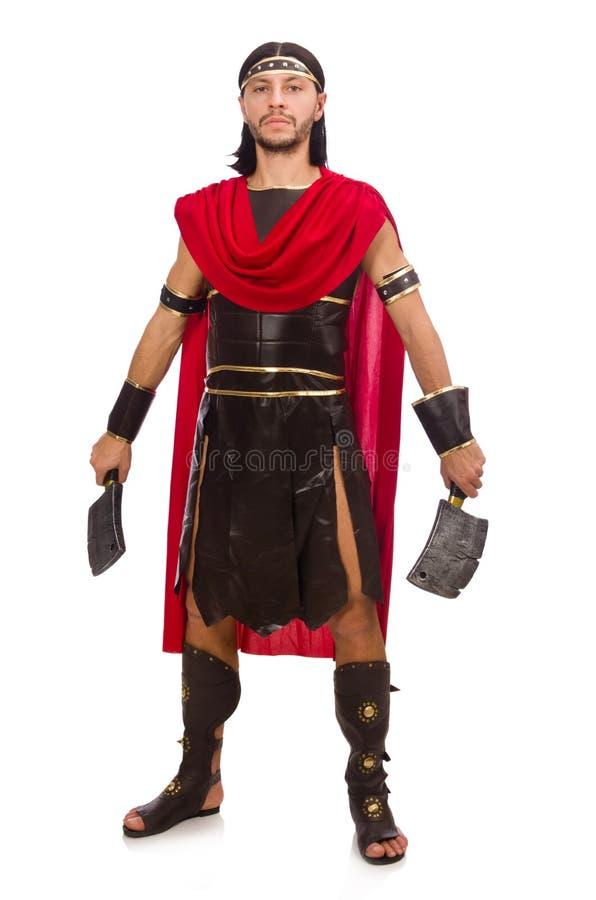 Gladiador con la cuchilla foto de archivo libre de regalías