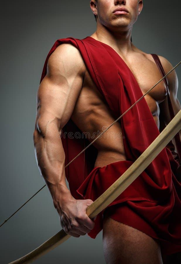 Gladiador herido con el arco fotos de archivo libres de regalías