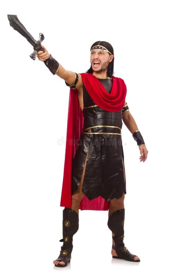Gladiador que levanta com espada fotografia de stock