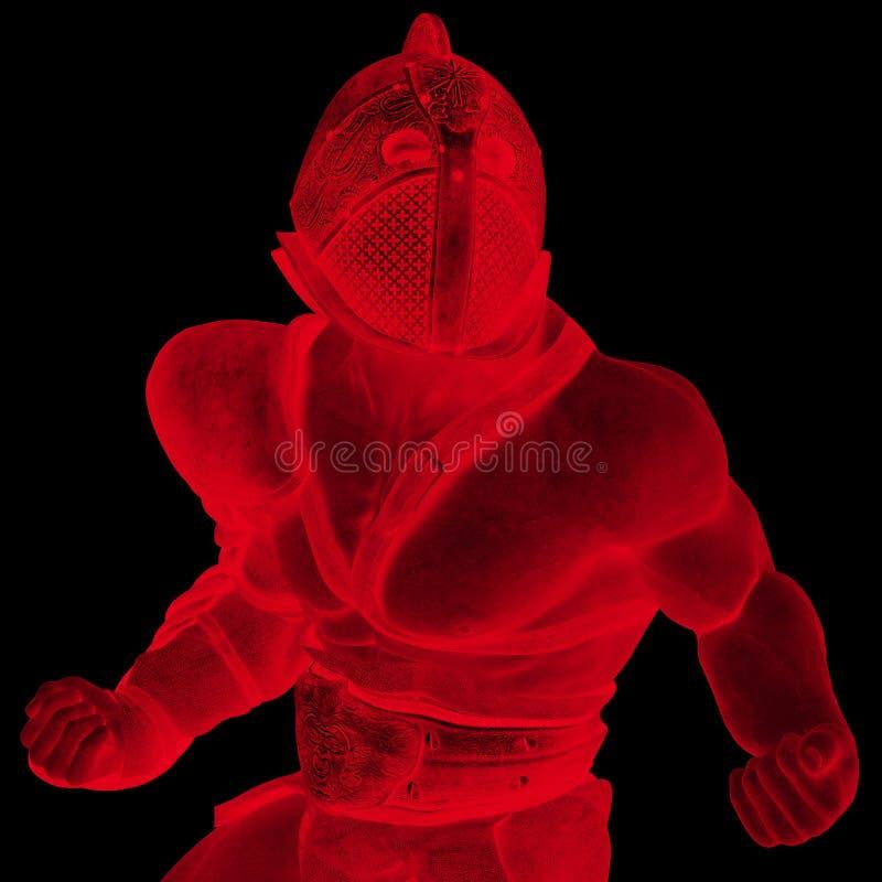 Gladiador que procura o duotone da guerra ilustração royalty free